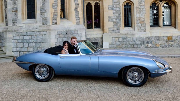 Electric Jaguar E Type Royal Wedding