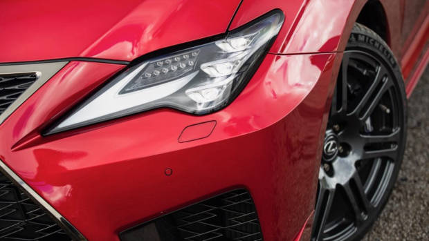 Lexus RC F review 2020 headlight