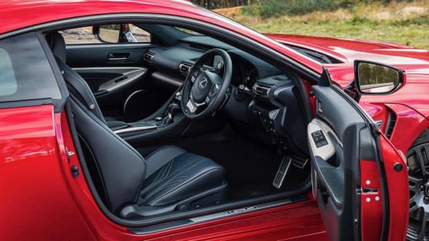 Lexus RC F review 2020 interior