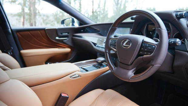 Lexus LS 500 Inspiration Series review leather