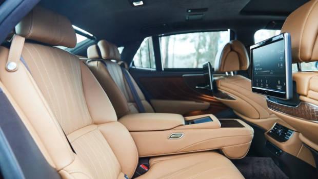 Lexus LS 500 Inspiration Series review rear seat