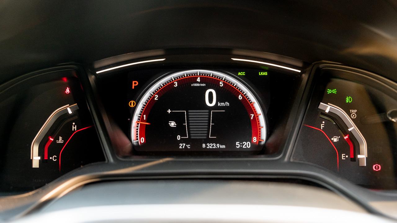 2020 Honda Civic sedan gauges