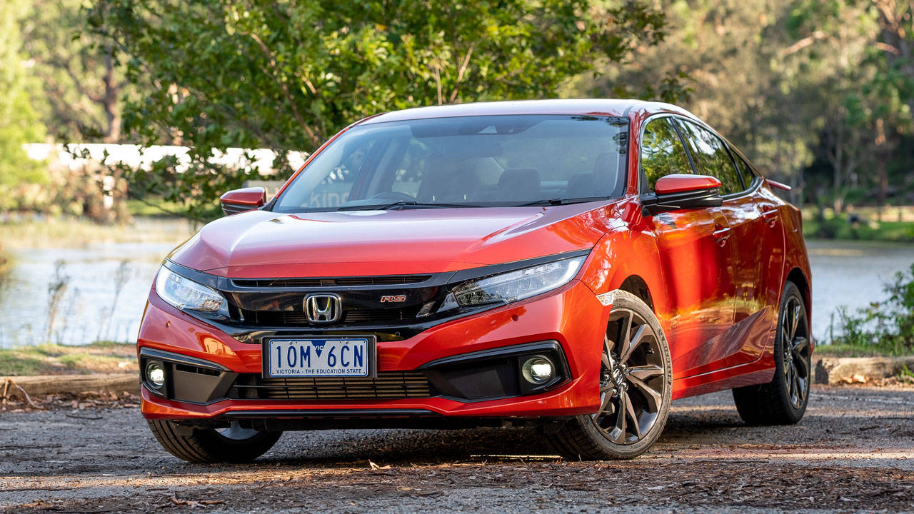 2020 Honda Civic sedan orange design