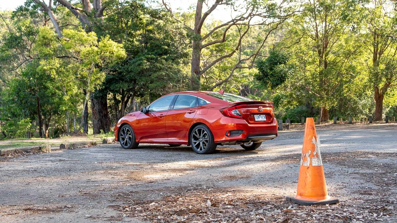 2020 Honda Civic sedan orange driving