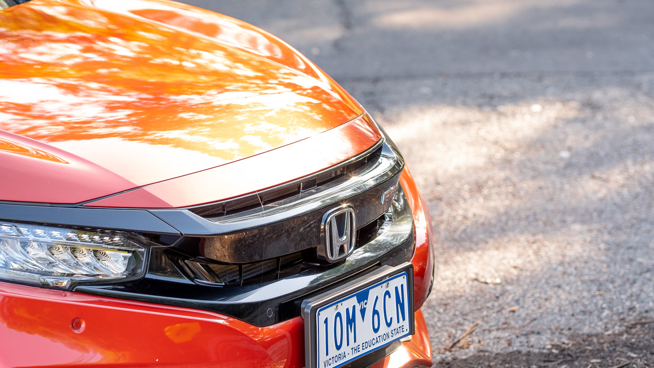 2020 Honda Civic sedan orange grille