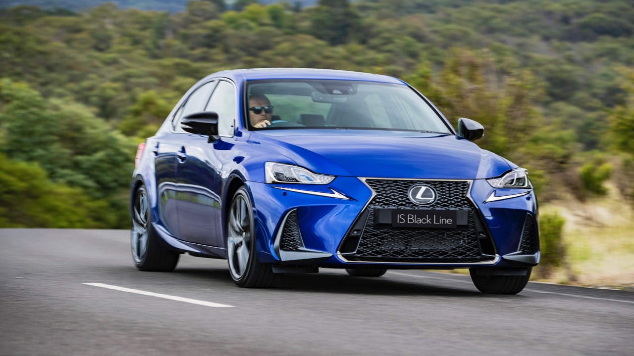2020 Lexus IS Black Line driving
