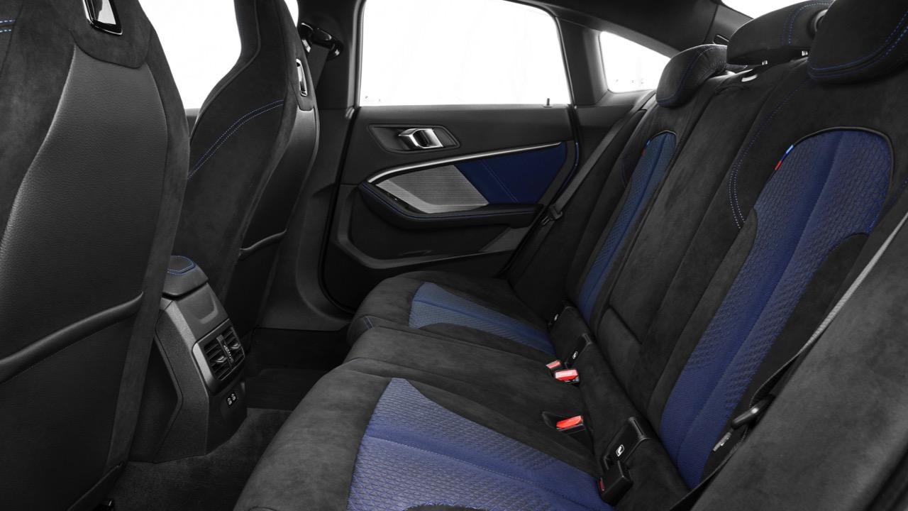 BMW 218i 2020 interior blue black cloth