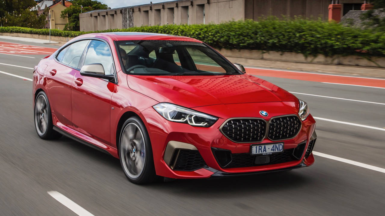 BMW M235i Gran Coupe 2020 red driving
