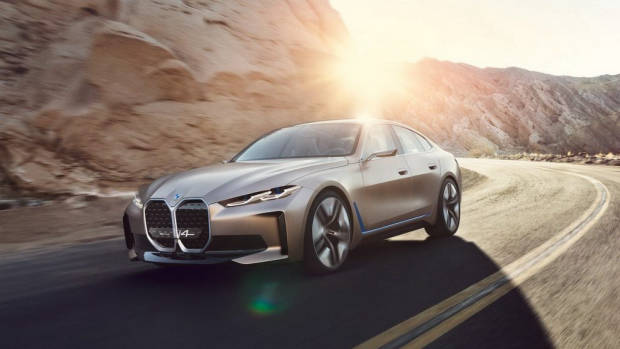 BMW i4 2021 EV concept front