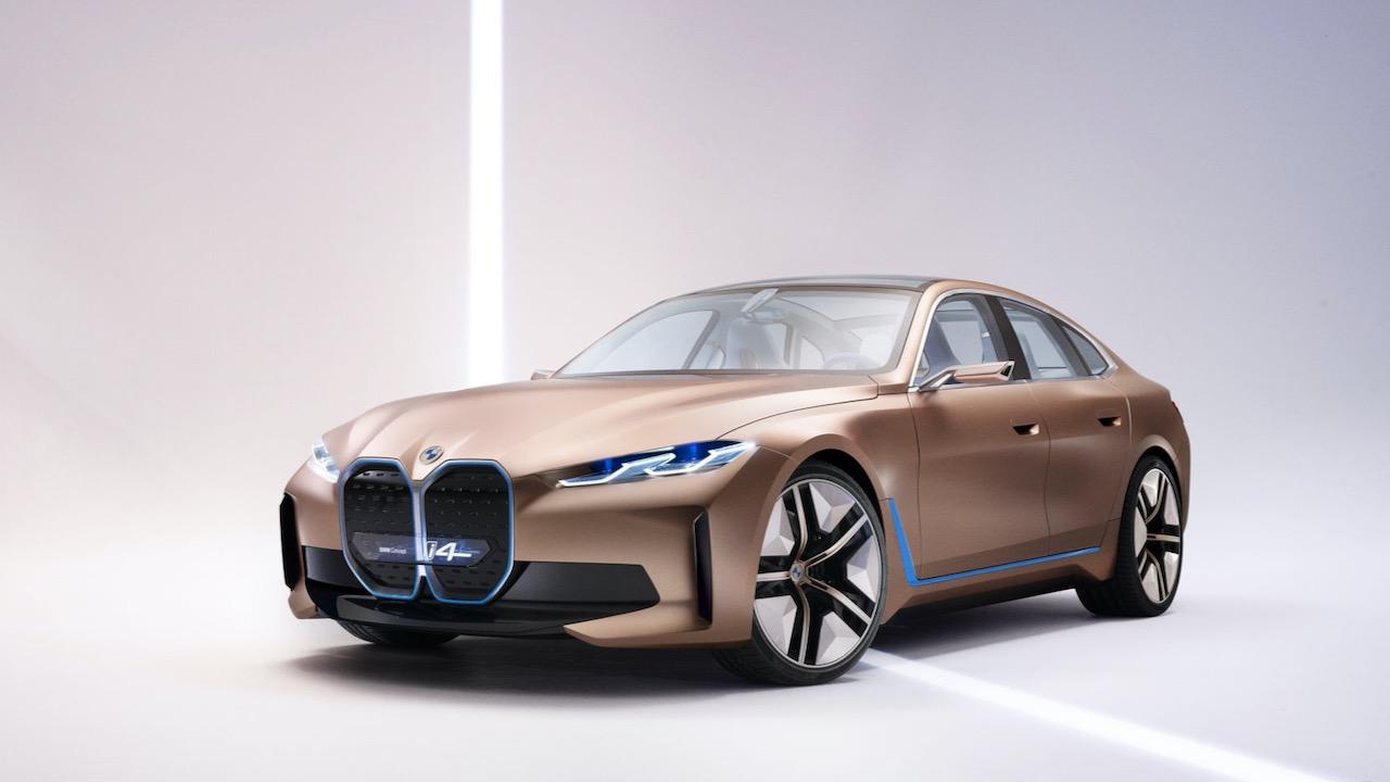 BMW i4 2021 EV concept grille