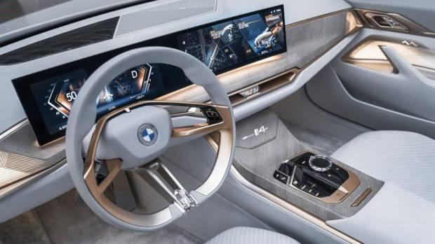 BMW i4 2021 EV concept interior