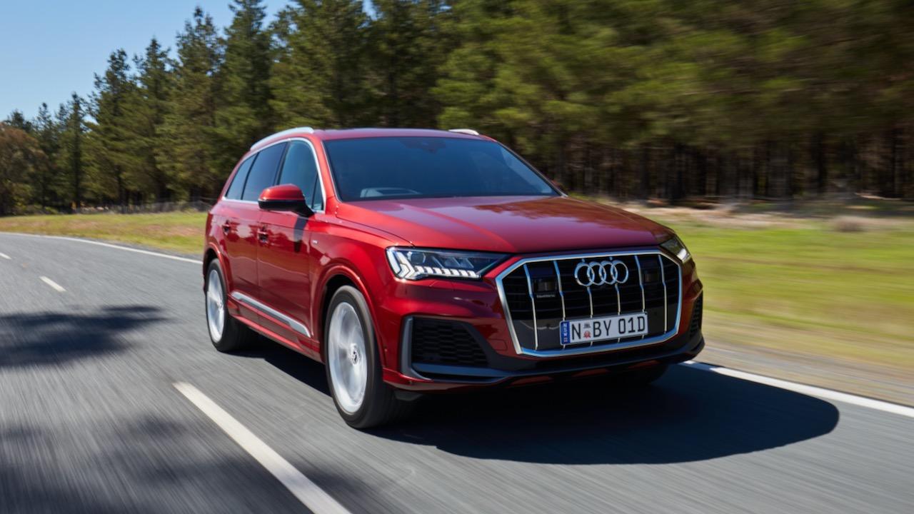 2020 Audi Q7 Matador Red driving