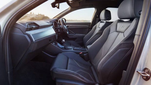 Audi Q3 Sportback review black leather