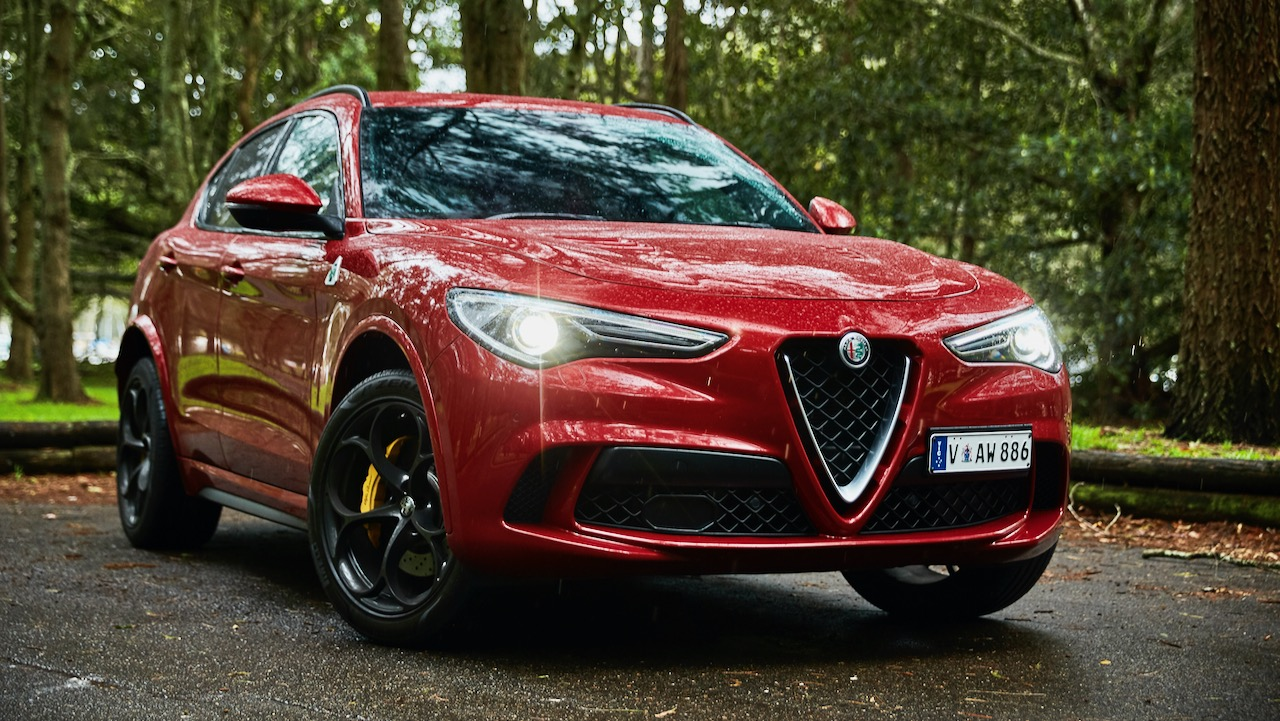 Alfa Romeo Stelvio Quadrifoglio review 2020 red front