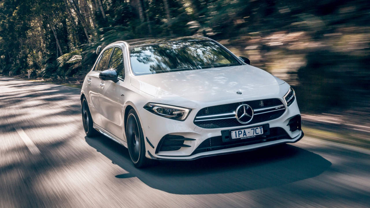Mercedes-AMG A35 hatch review engine