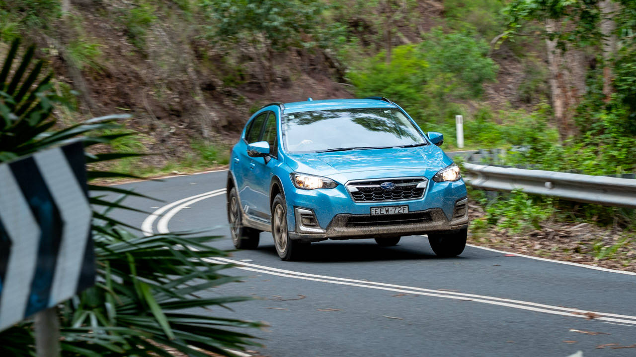 Subaru XV Hybrid 2020 review on road