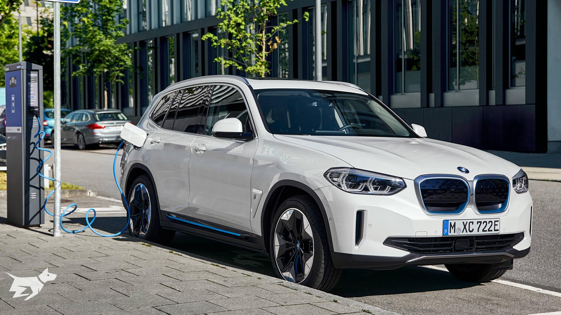 BMW iX3 electric SUV charging up