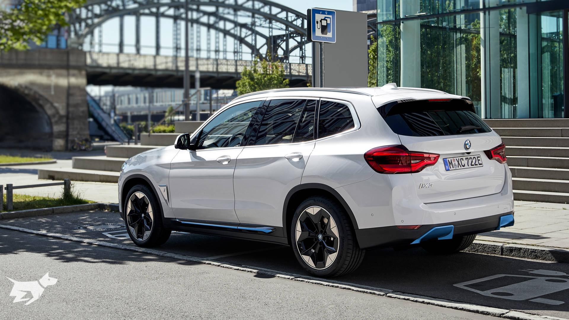 BMW iX3 electric SUV charging