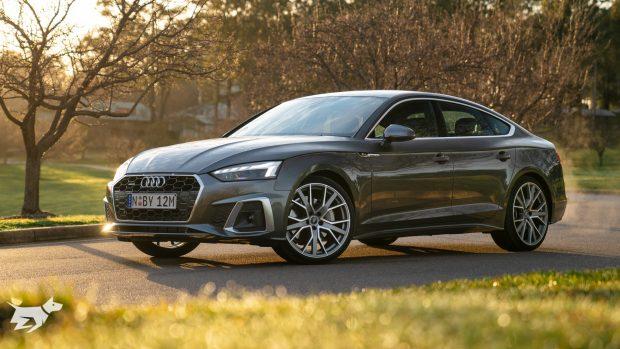Audi A5 Sportback 2021 in grey metallic