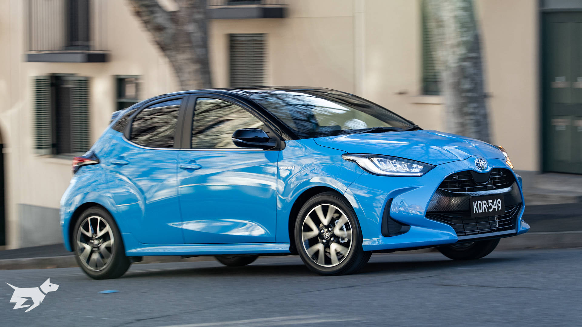 The 2021 Toyota Yaris ZR shown here in blue