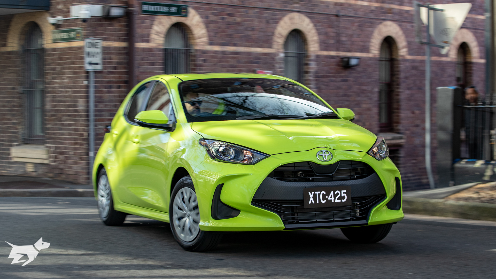 The 2021 Toyota Yaris Ascent Sport shown here in green