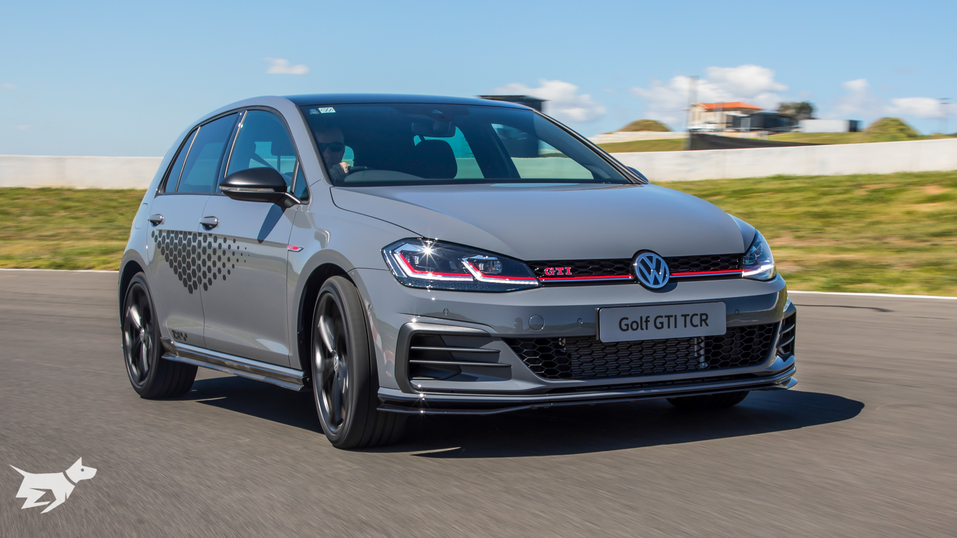 Volkswagen Golf GTI TCR in Pure Grey on track