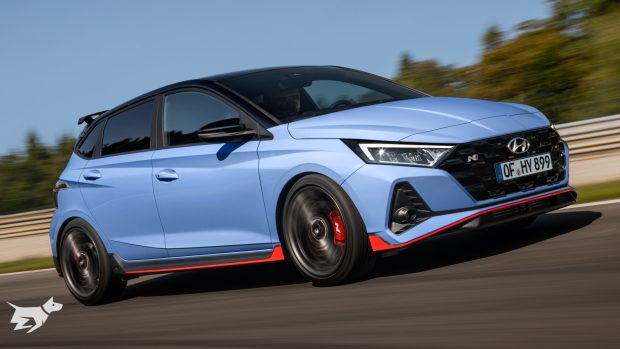 Front end of the 2021 Hyundai i20 N