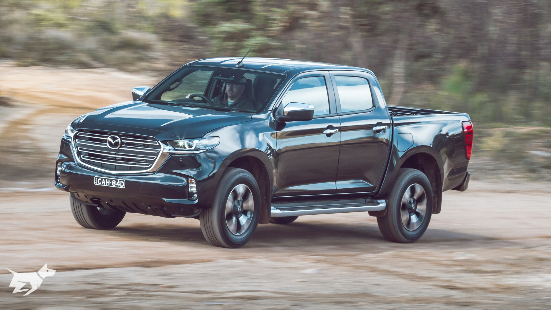 The Mazda BT-50 2021 driving off road