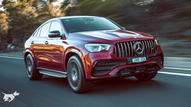 2021 Mercedes-AMG GLE 53 Coupe in Hyacinth Red